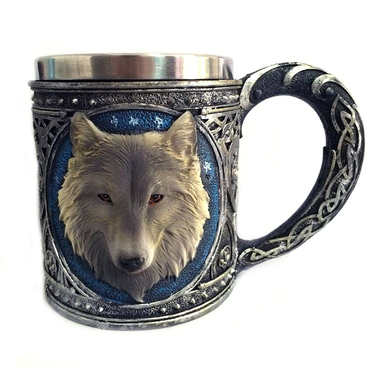 Awesome Game of Thrones Stainless Steel 3D Wolf Mug //Price: $34.99 & FREE Shipping //     #winterishere