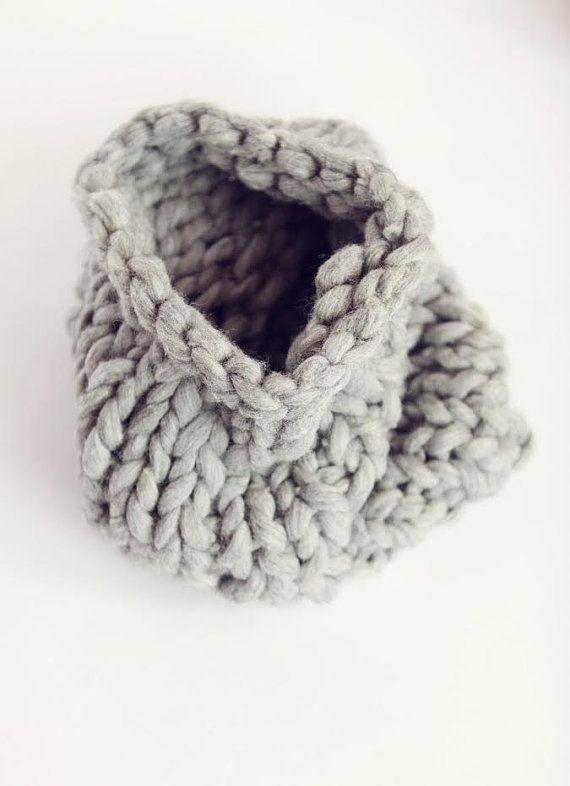 Chunky Merino Neck Warmer  Chunky Grey Neck by coolwoolstudio