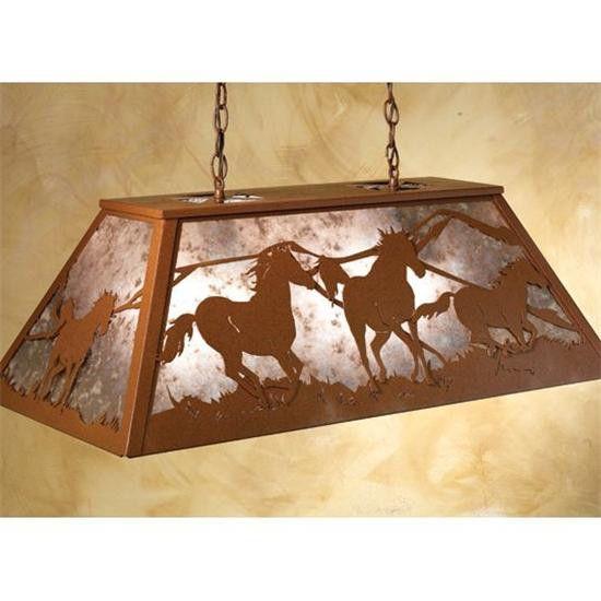 Wild+Horses+Billiard+Lamp