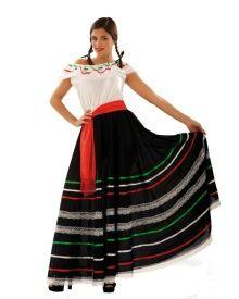 Disfraz de mariachi negro para mujer
