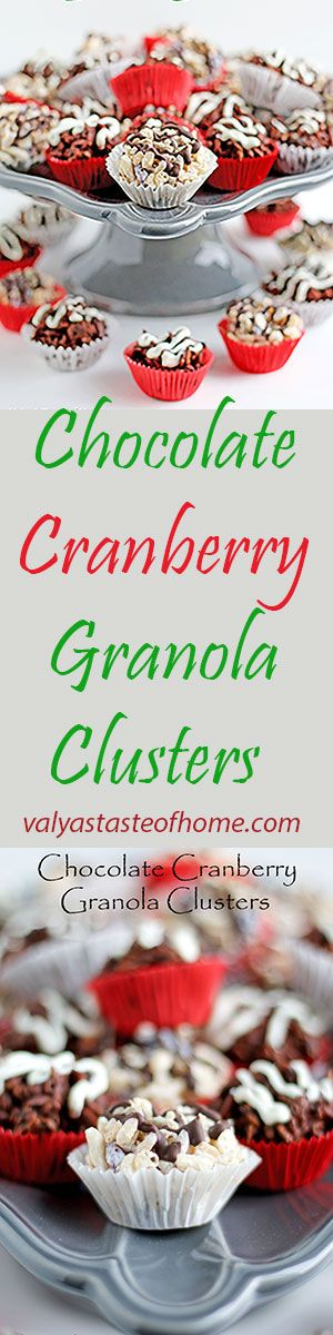 Chocolate Cranberry Granola Clusters