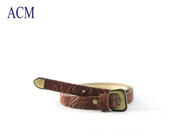 Cintura Donna Western in ecopelle stampata con fibbia invecchiata Made in Italy  #western #country #belt #leather