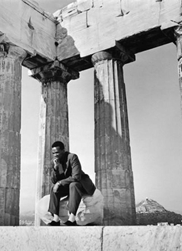 Dizzy Gillespie visiting the Acropolis ~ 1956