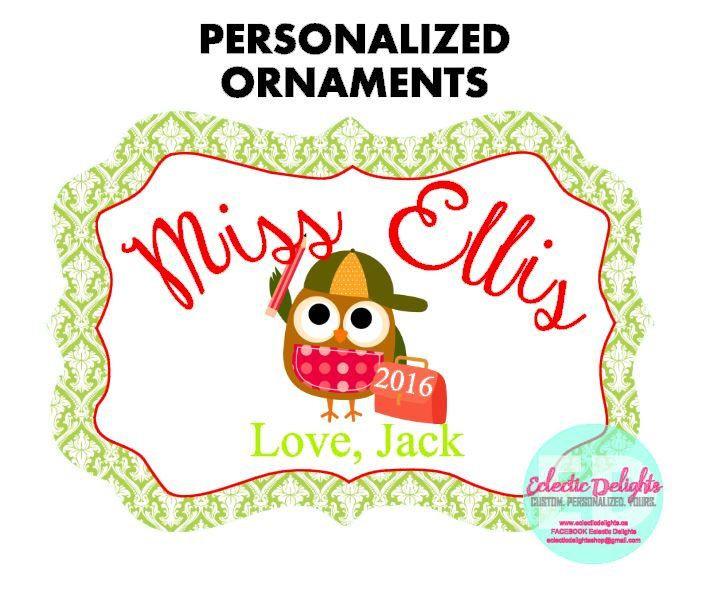 A personal favorite from my Etsy shop https://www.etsy.com/ca/listing/458676374/personalized-ornaments-custom-ornaments