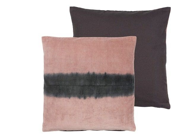 Sierkussen 45x45, roze, 100 % katoen velour/canvas, inclusief vulling, Aqualines Velvet van Södahl | - ShopADeco.com Woonaccessoires