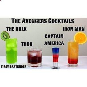 The Avengers Cocktails........Tipsy Bartender http://@TipsyBartender Instagram photos | Webstagram