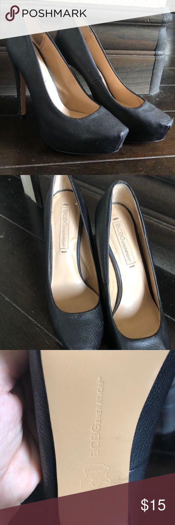 BCBGeneration Black platform pumps in 6.5/36.5 BCBGeneration Black platform pumps in 6.5/36.5. Cute toe shape. Very comfortable. BCBGeneration Shoes Platforms