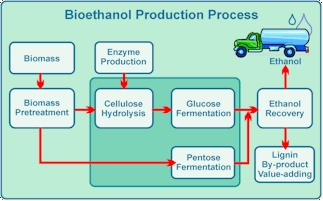 schematic of bioethanol production process cleantech pinterest. Black Bedroom Furniture Sets. Home Design Ideas
