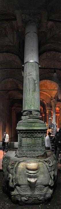 Basilica Cistern in Istanbul, Turkey: