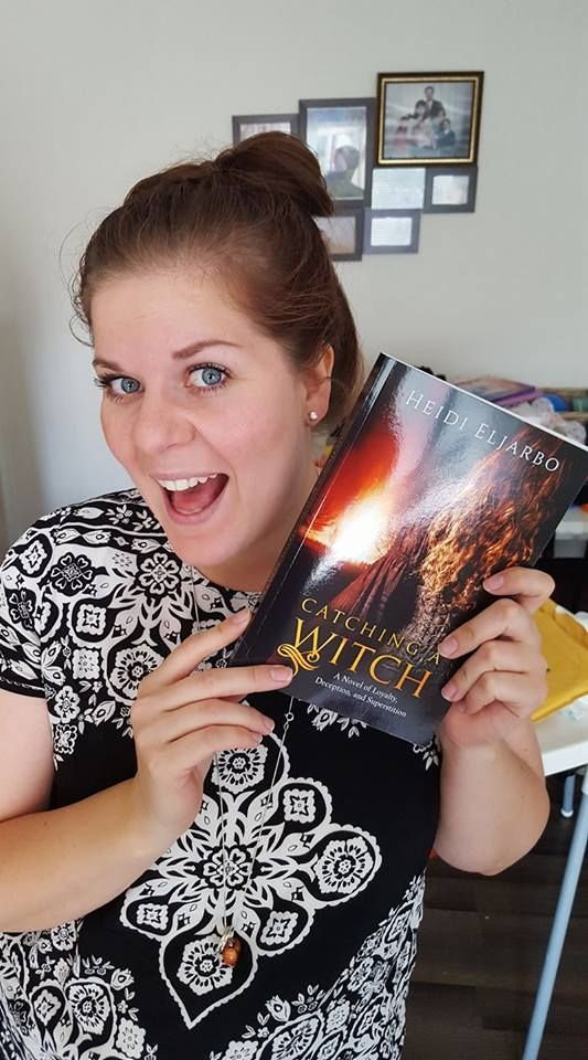 Reader, Linnea, with her copy.