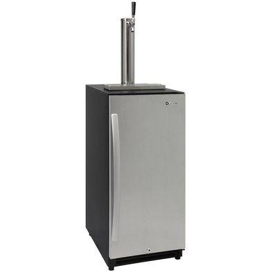 Kegco Built in Undercounter Kegerator Single Tap Freestanding Beer Dispenser