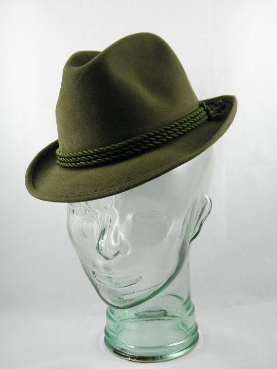 Vintage 1950's Brown Biltmore Tyrolean Hat  by BlackBirdVintiques, $40.00