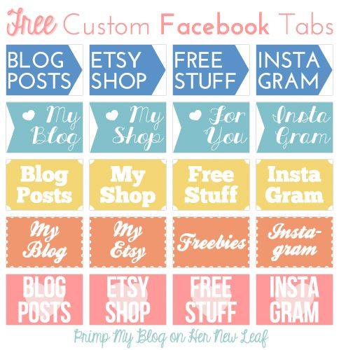Free tabs for your Facebook page via Her New Leaf