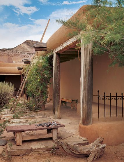 Georgia O'Keeffe's house at Ghost Ranch in Abiquiu, New Mexico