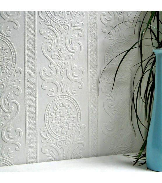 Louisa Paintable Textured Vinyl Wallpaper