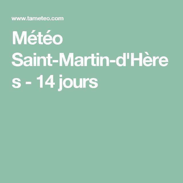 Météo Saint-Martin-d'Hères - 14 jours