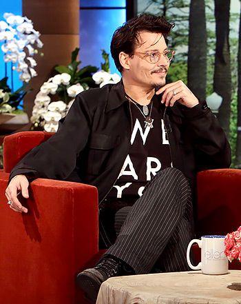 Johnny Depp on Ellen DeGeneres: Star Has Less Rage, Plays True/False - Us Weekly