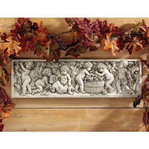 """21""""w 18th Century Italian Replica Bacchus Wine Wall Sculpture Statue Décor"""