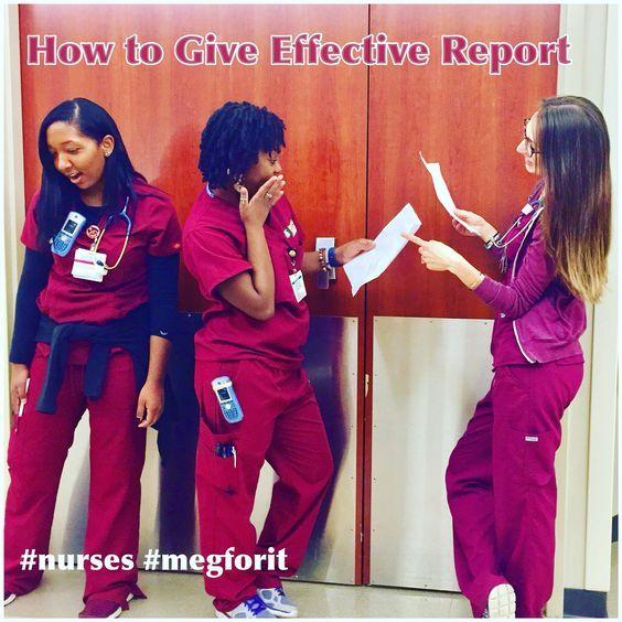 RN nurse healthcare humor new nurse new grad hack giving report