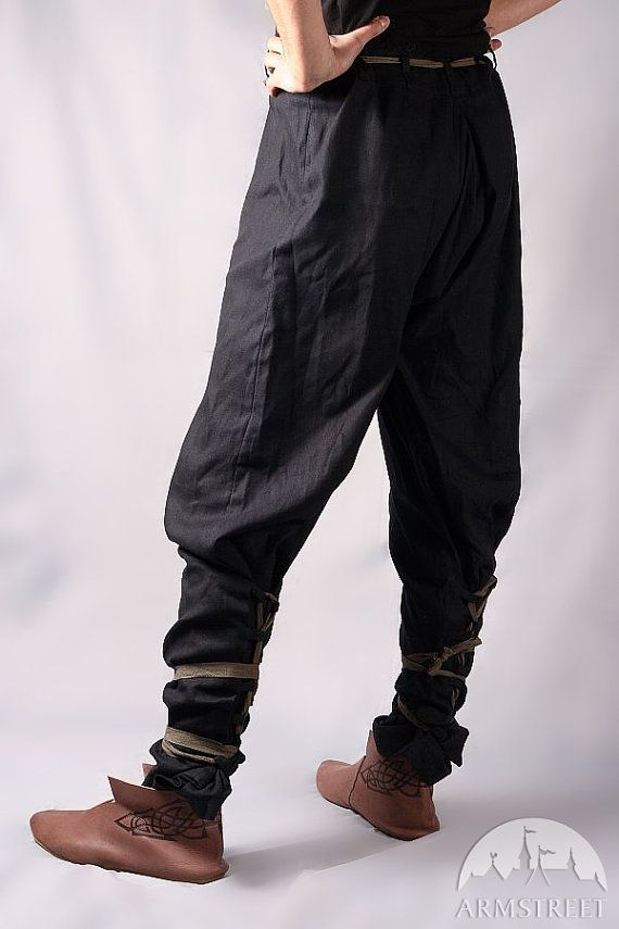 Medieval Cotton Pants with Lacing; Discounted price! Fixed size
