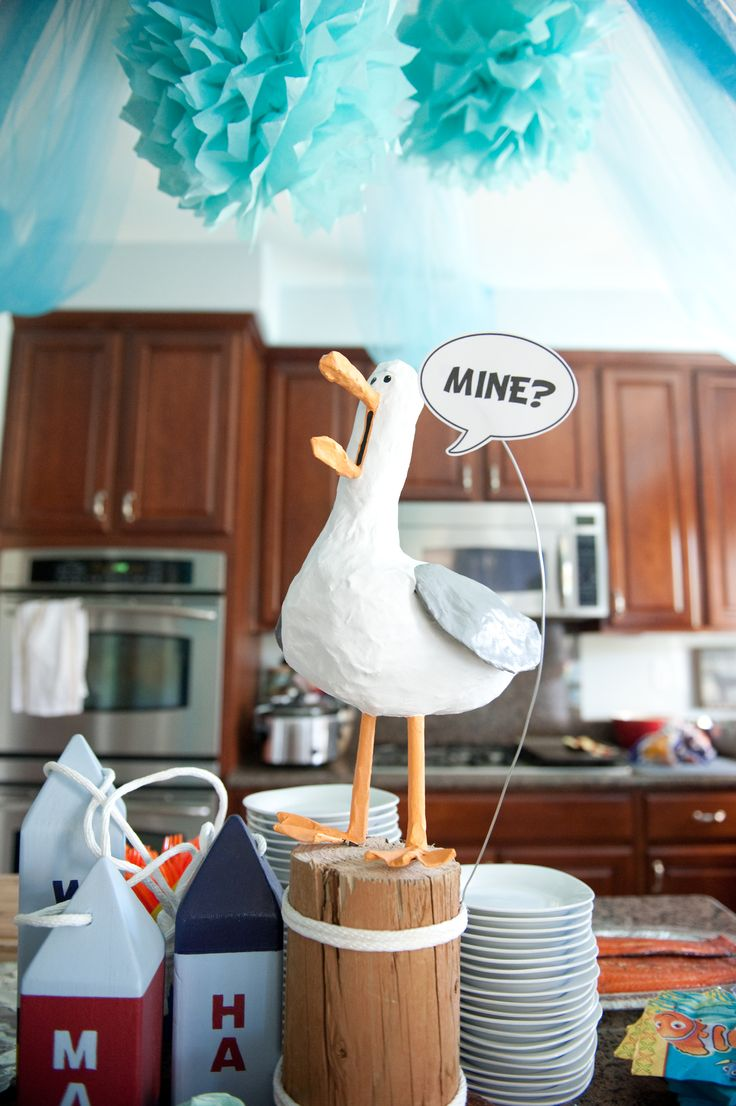 "Finding Nemo Birthday Party | ""Mine"" Seagull 