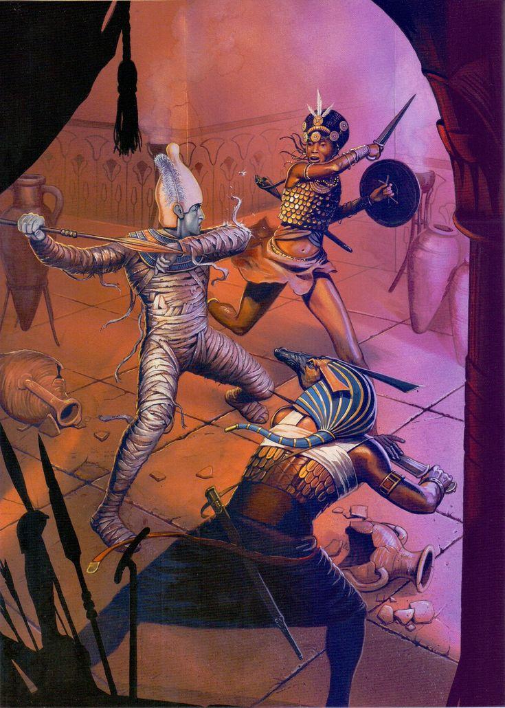 Osiris, Set, and Queen Aso