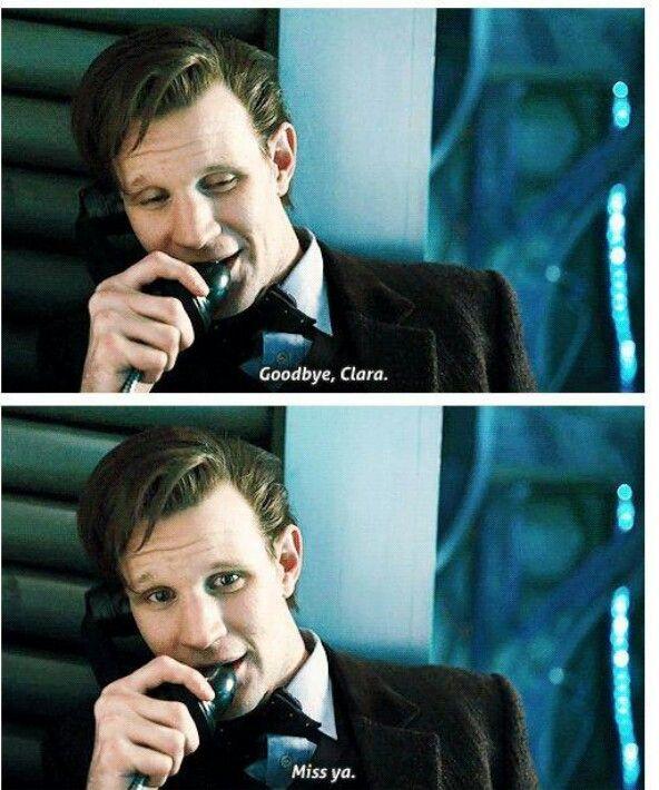 Hoşçakal Clara.  Seni özleyeceğim. (Doctor Who)