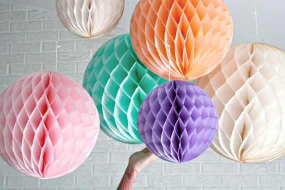 paper party decor ... honeycomb lantern ... candy table buffet tablescape // weddings // birthday party // baby shower // nursery on Etsy, $6.61 AUD