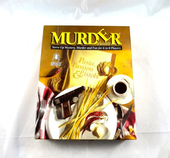 Vintage Murder Mystery Game Pasta Passion by BonniesVintageAttic