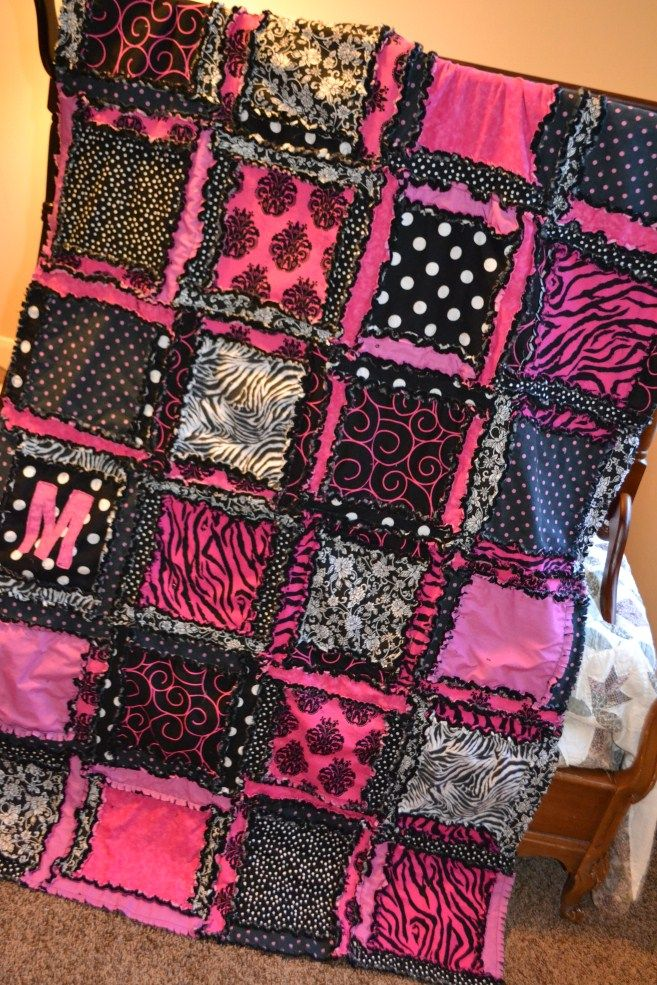 Vision to Remember All Things Handmade Blog: Zebra Rag Quilts