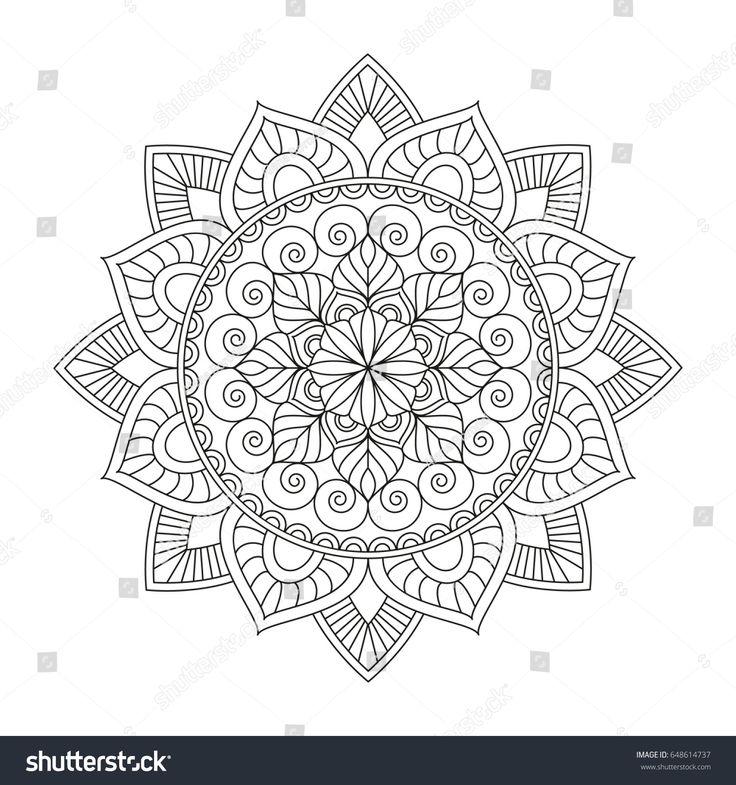 2212 best Mandala images on Pinterest Mandalas, Adult coloring - polar graph paper