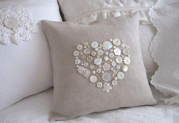Tante creazioni stile Shabby realizzati con tela di juta e bottoni - Il blog italiano sullo Shabby Chic e non solo