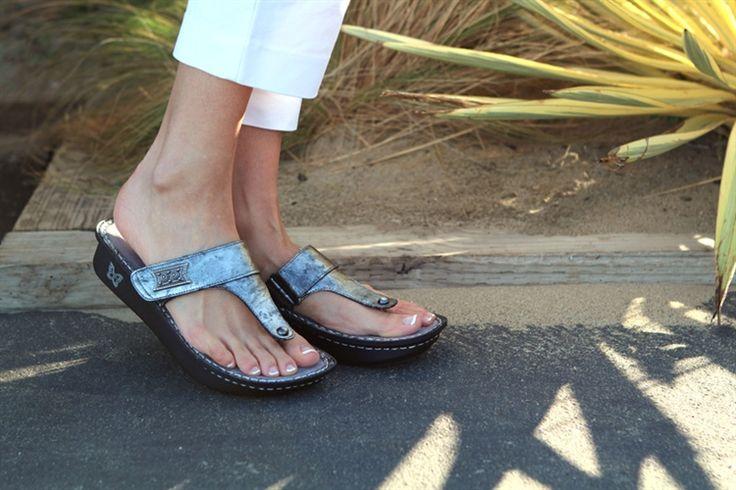 Alegria Carina Pewter Black Tumble | Alegria Shoe Shop #AlegriaShoes #Sandals #Spring2014 #Summer