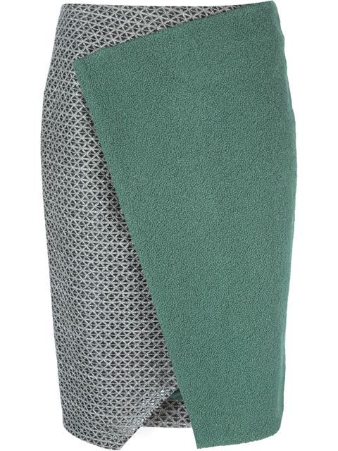 Prabal Gurung panelled wrap skirt in Soho-Soho. The perfect green.