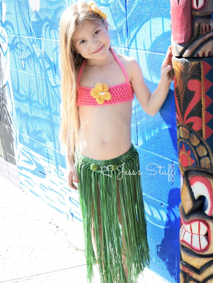 Grass Skirt With Attached Bikini Bottom 9 12 Months To