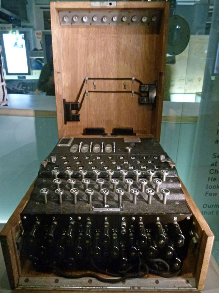 An Enigma machine ondisplay at the Churchill Museum in London (part of he Cabinet War Rooms).