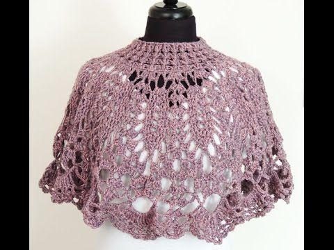 Crochet: Capa Cuello # 2 - YouTube