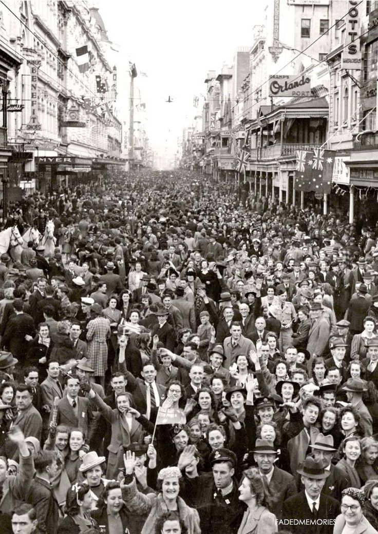 Approximately 30,000 people celebrating Victory day at the end of WW 2 in Rundle Street. A bit different to Rundle Mall these days. Photo from Faded Memories. I just thought this is so lovely I had to add it