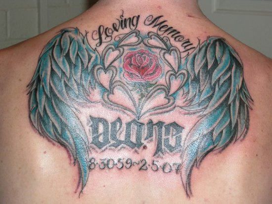 in memory of tattoos | Category: Back Tattoos , In Loving Memory Tattoos
