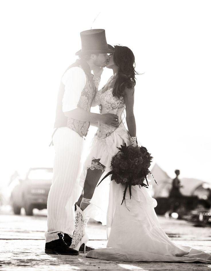 Victorian-Inspired Burning Man Wedding