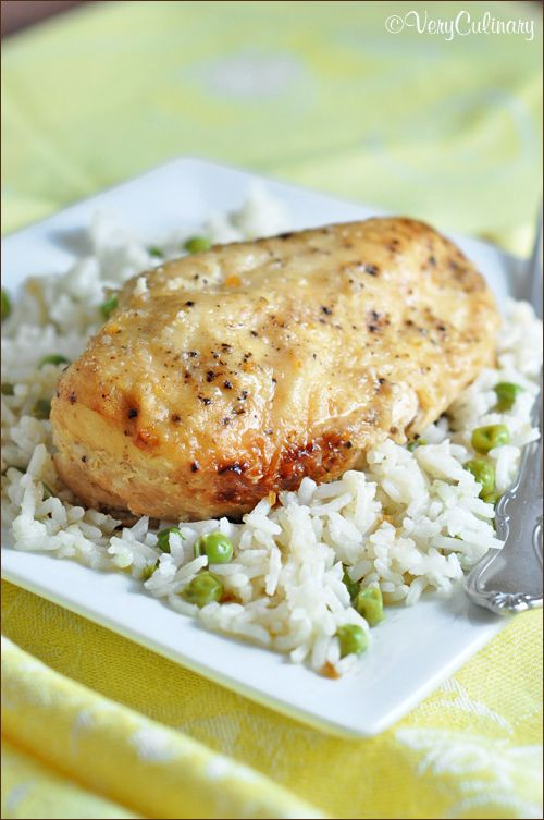 Chicken slow cooks all day in a lemon broth and Italian seasonings. Only 6 ingredients!