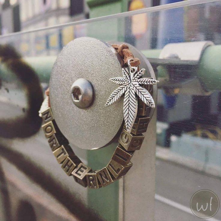 Ich freue mich, den jüngsten Neuzugang in meinem #etsy-Shop vorzustellen: Northern Lights: cannabis marijuana ganja bohemian boho gypsy ethno vintage hippie 420 710 leather jewelry bracelet - weed accessories #schmuck #armband http://etsy.me/2hGss9L