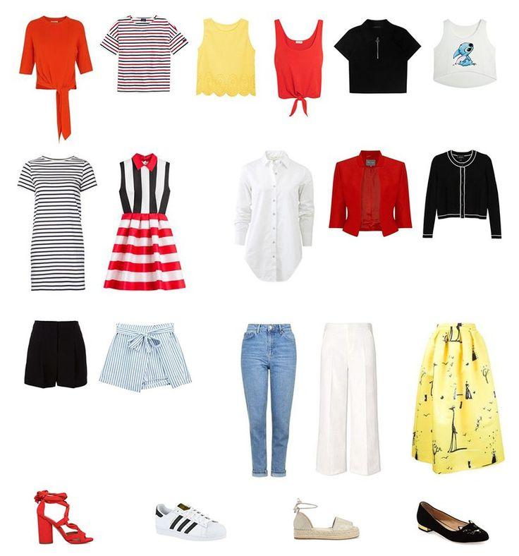 Капсульный гардероб на лето из 20 вещей на www.wearnissage.com / Capsule wardrobe for summer only 20 pieces on www.wearnissage.com #capsulewardrobe #summer #summerwardrobe #20pieceswardrobe