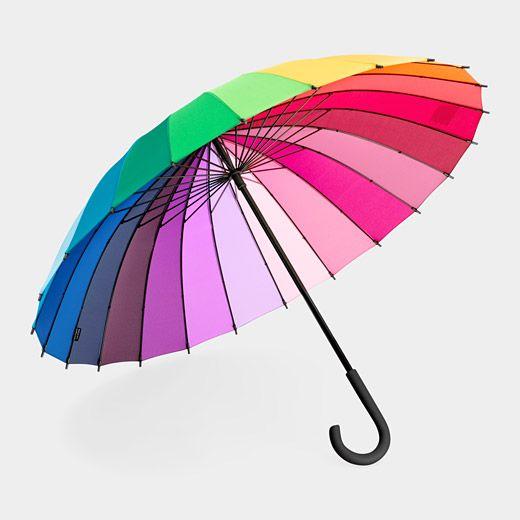 """Big Bright Umbrella: 40"""" span. $40 #Umbrella #Color_Wheel_Umbrella"""