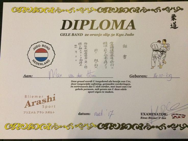 Max, 2e oranje slip met judo. 6 maart 2017