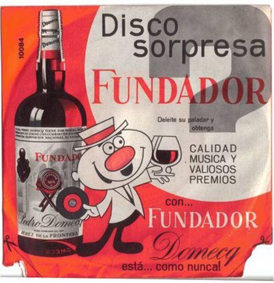 Cárteles antiguos de publicidad- Disco sorpresa Fundador