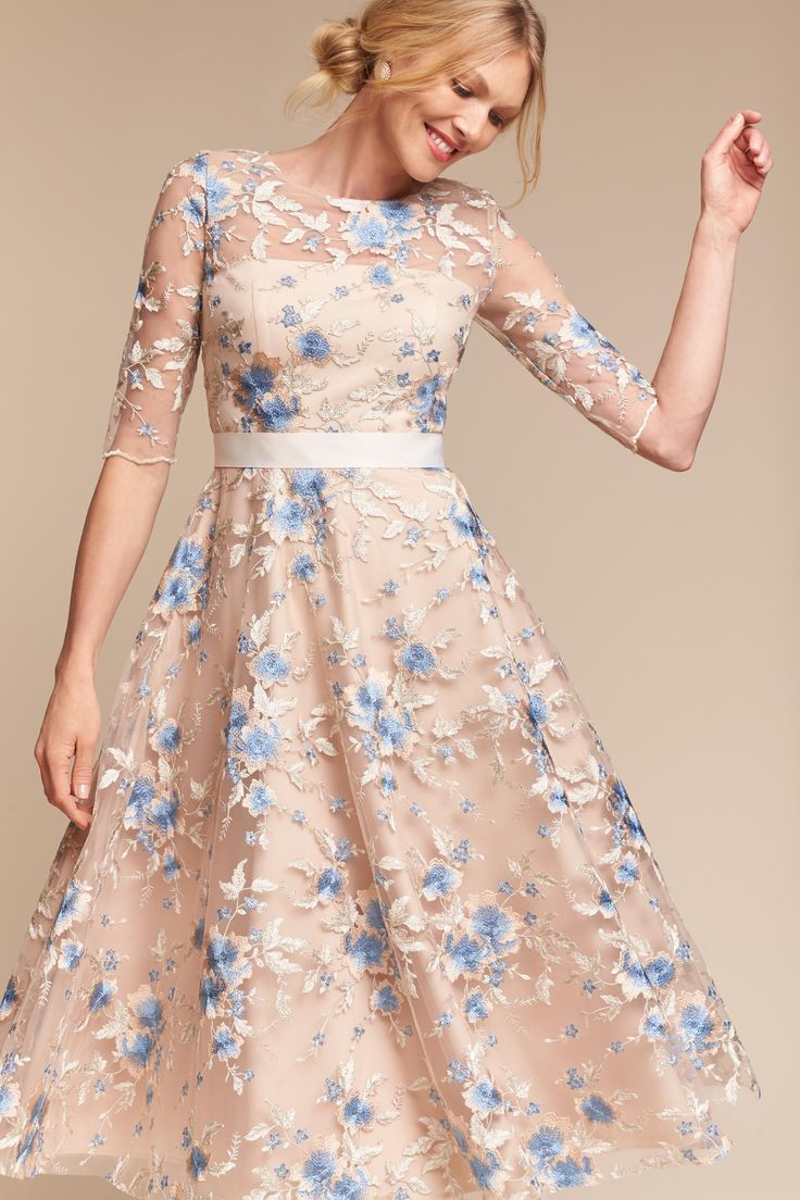 floral embroidery illusion Linden Dress from @BHLDN