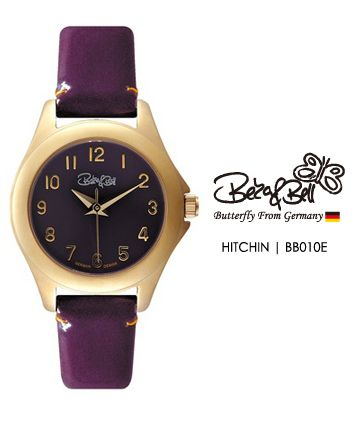 HITCHIN BB010E   | Meterail:316L Stainless Steel  | Movement: MIYOTA 2035  | Case Size: 26mm  | Band Size: 12mm  | Band: Enamel coated Genuine Leather  | Glass: Hardened Mineral Crystal  | Water Resistance : 3 ATM