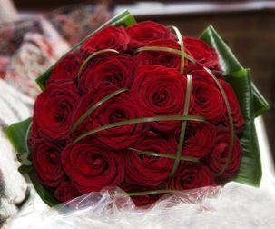 bouquet mariée rose rouge - Recherche Google