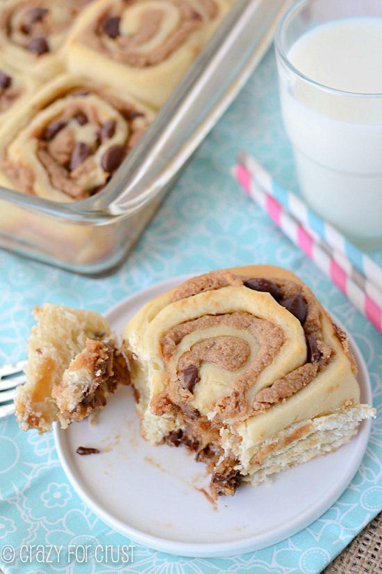 Peanut Butter Cinnamon Rolls by crazyforcrust.com | These are my favorite cinnamon rolls yet!